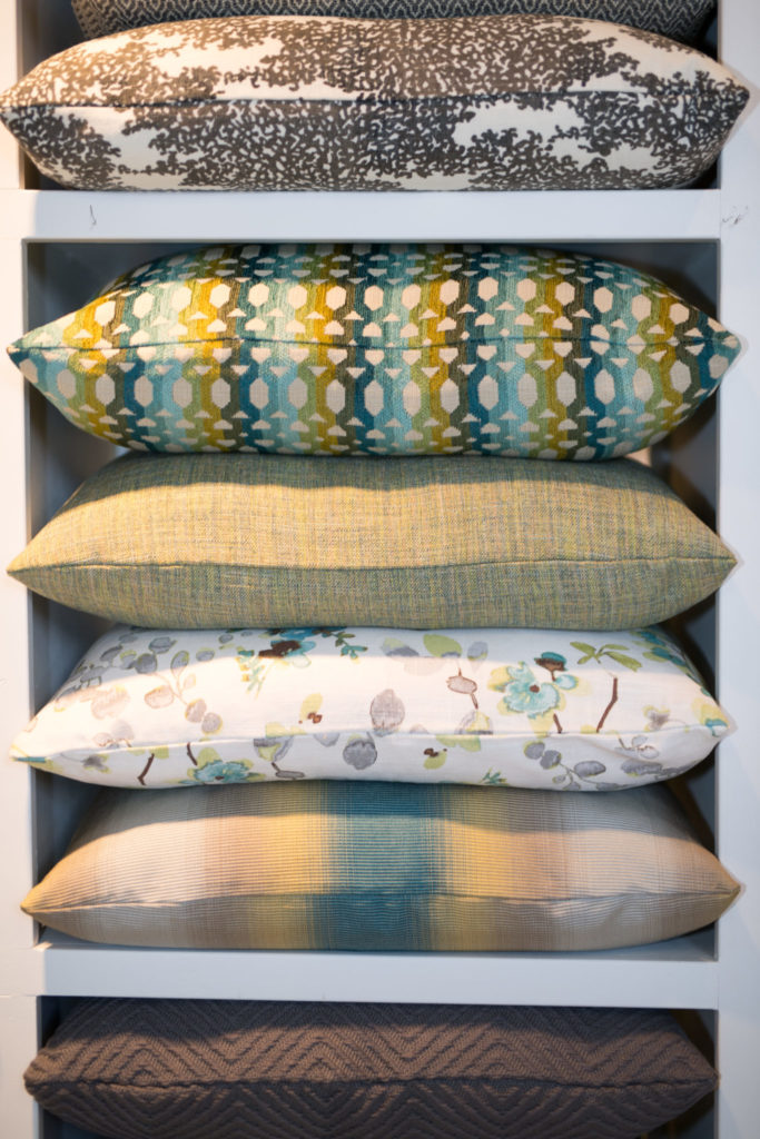 Hand-crafted pillows to the trade only